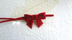 Petite Red Sequin Bow Baby Girls Headband - Happy BOWtique - children's clothing, Baby Girl clothing