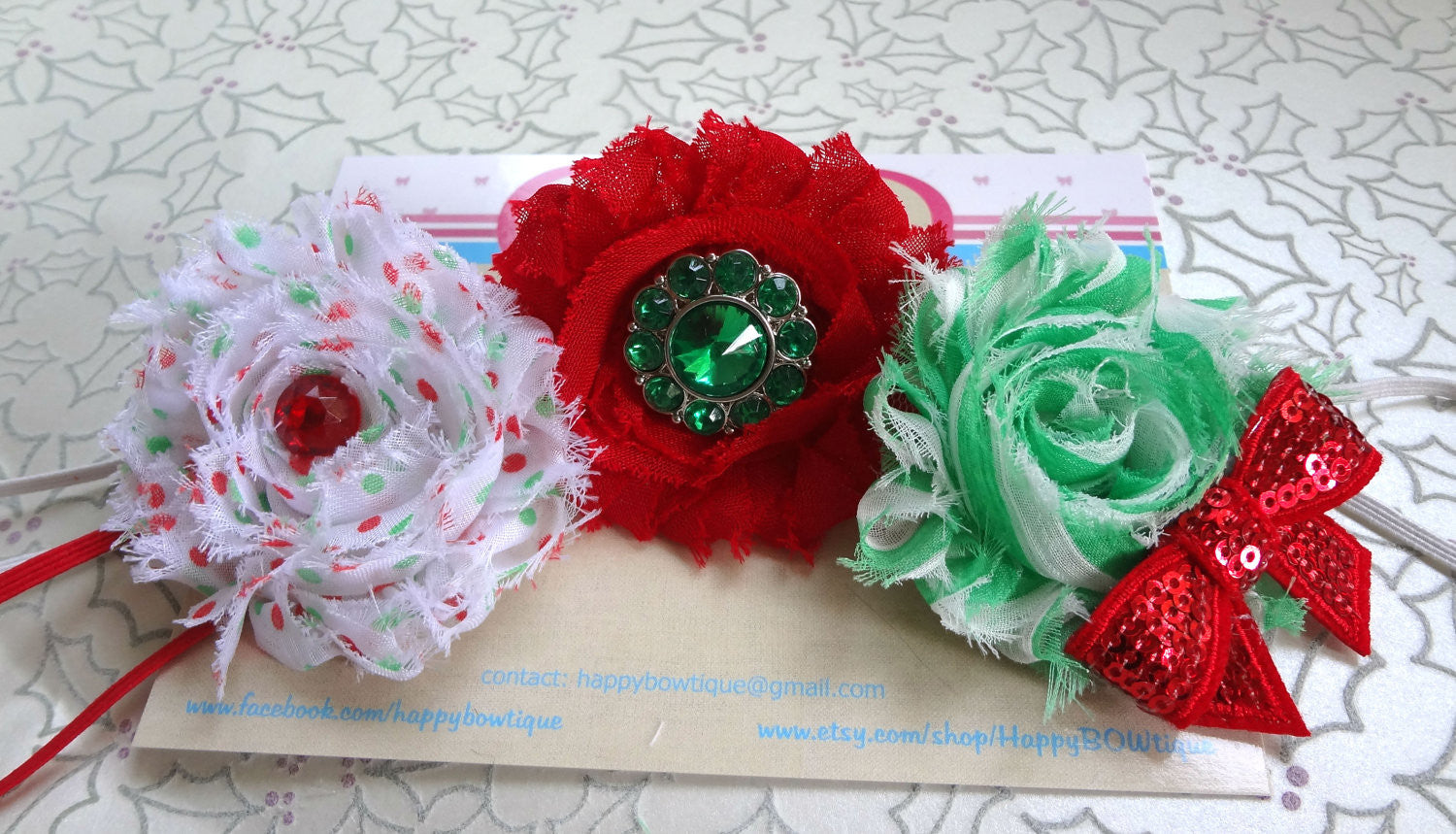 Christmas Headband For Baby Girl.Rio Shabby Christmas Headband Sets Baby 1st Christmas Baby Girls Headband