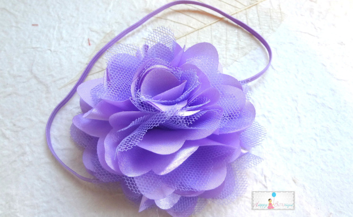 Large Lavender Satin Tutu Puff baby girls Headbands - Happy BOWtique - children's clothing, Baby Girl clothing