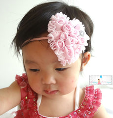 Valentine headband, Baby flower Heart Headbands - Happy BOWtique - children's clothing, Baby Girl clothing