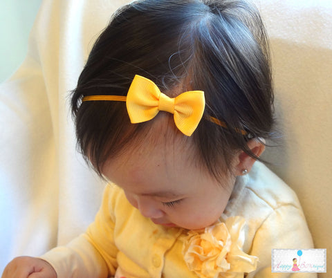Petite Sequin Bow U-Pick Color, Baby Sequin Bow Headbands