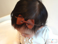 Brown Bow Headband - Happy BOWtique - children's clothing, Baby Girl clothing