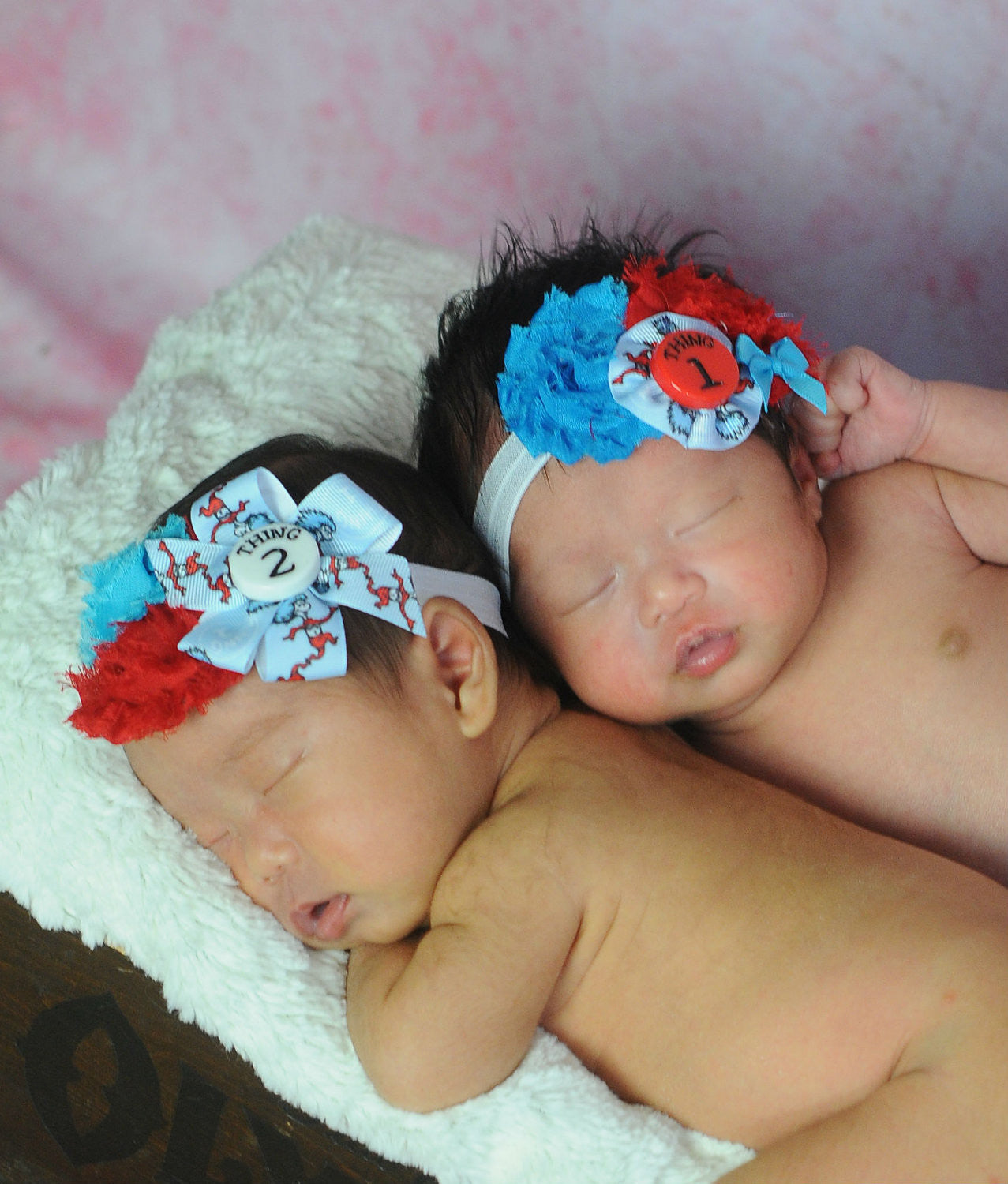 Children Story Thing 1 and Thing 2 Headband Set - Happy BOWtique - children's clothing, Baby Girl clothing