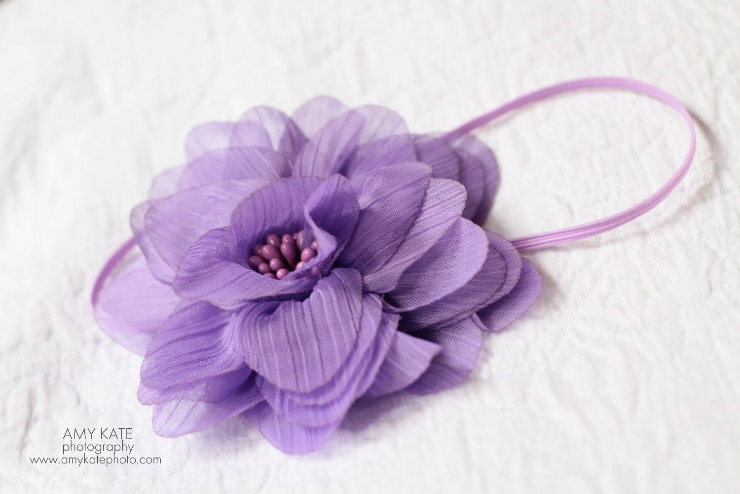 Lavender Silky Chiffon Headband - Happy BOWtique - children's clothing, Baby Girl clothing