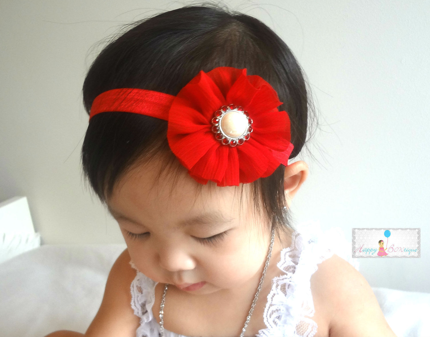 Stunning Red Ballerina headband - Happy BOWtique - children's clothing, Baby Girl clothing