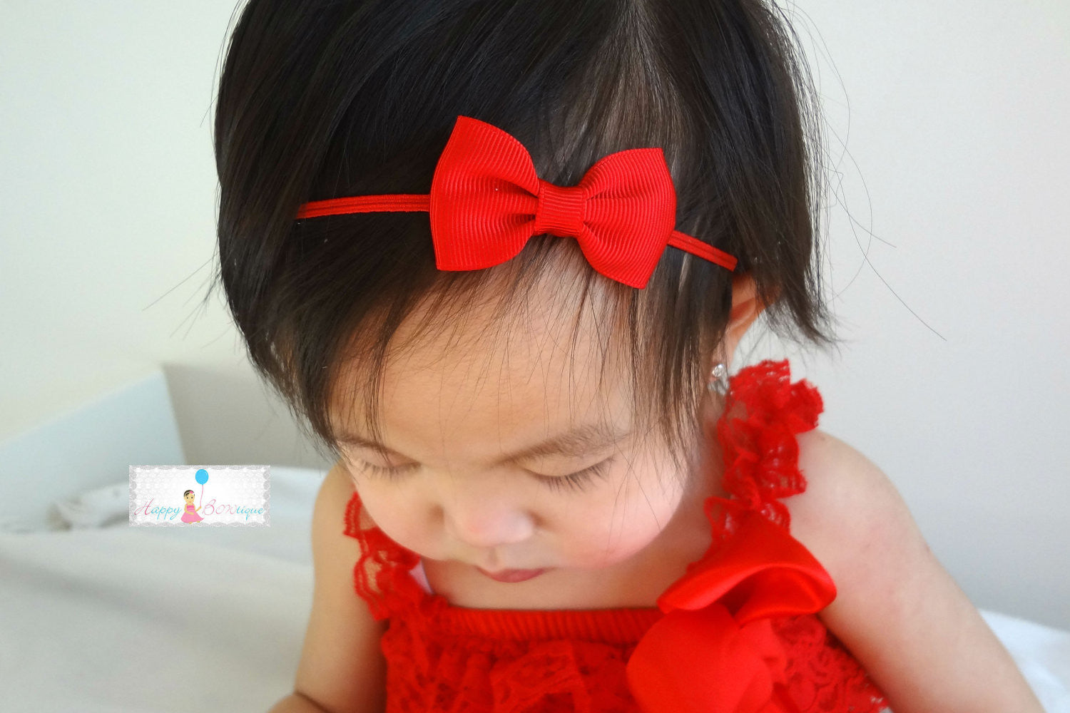 Petite Black Bow Headband - Happy BOWtique - children's clothing, Baby Girl clothing