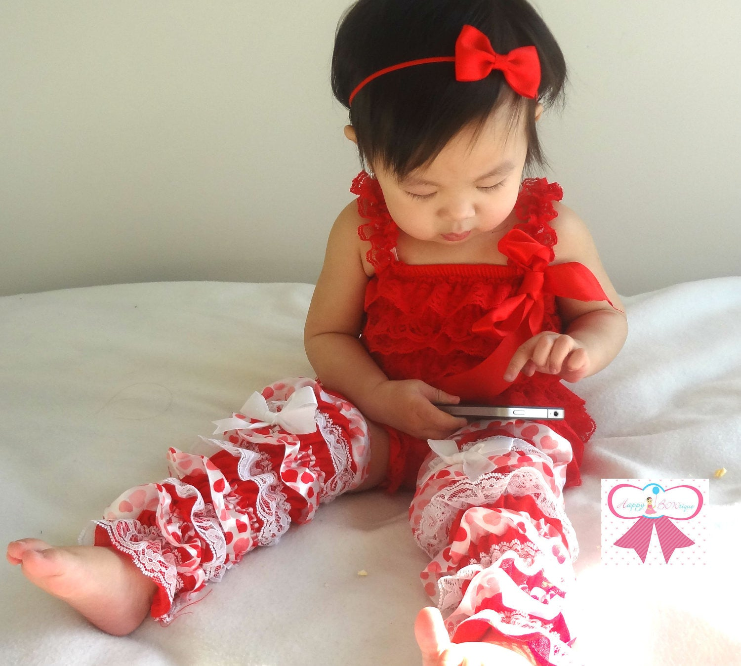 Girl S Valentine S Day Headband Baby Red Bow Headband Happy