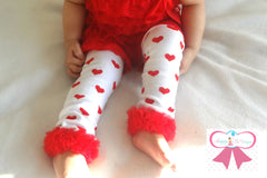 Heart Ruffle leg warmers set - Happy BOWtique - children's clothing, Baby Girl clothing
