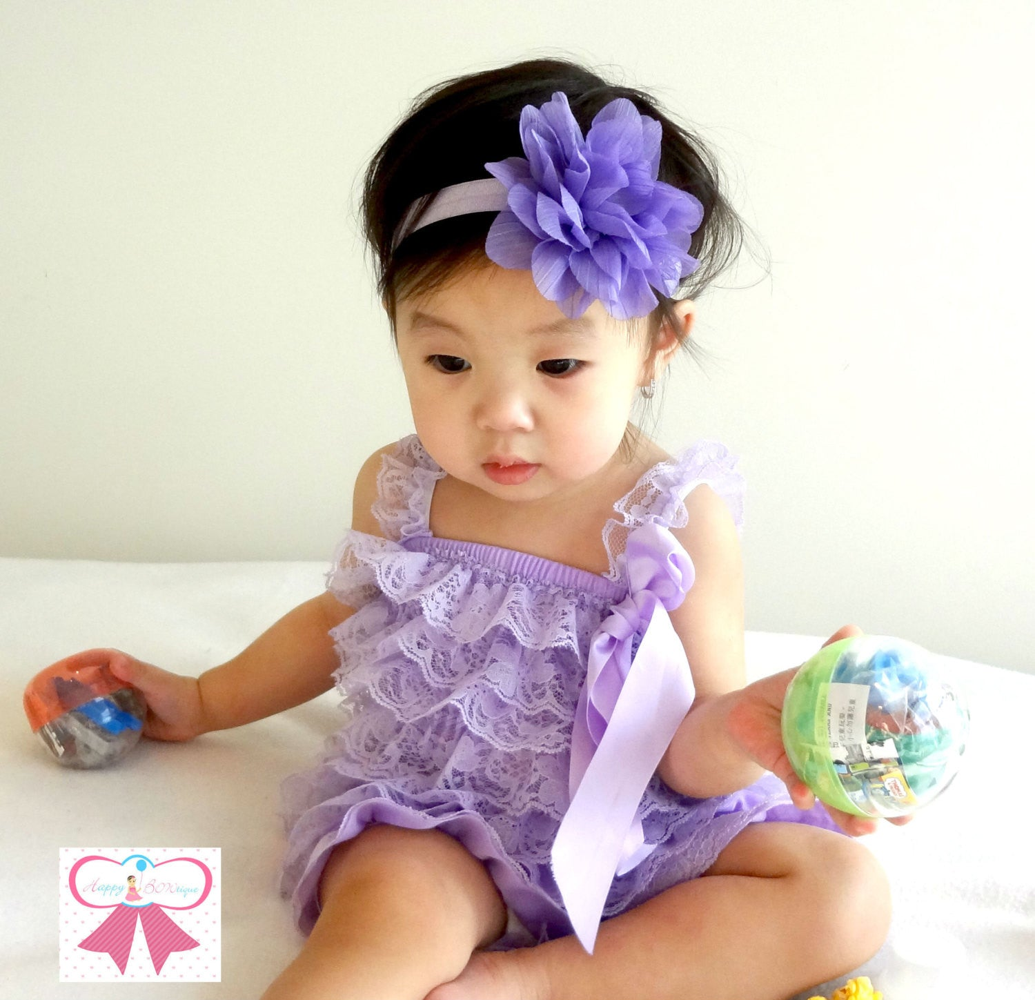 Baby Girl Lavender Petti Lace Romper ~Girl Easter Romper - Happy BOWtique - children's clothing, Baby Girl clothing