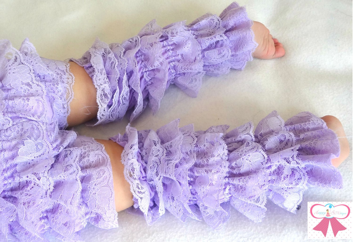 White Petti Lace Leg Warmers - Happy BOWtique - children's clothing, Baby Girl clothing