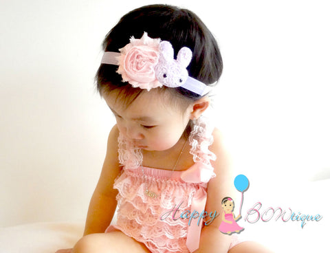 Easter Baby Headband / Purple Bunny Girls headband - Happy BOWtique - children's clothing, Baby Girl clothing