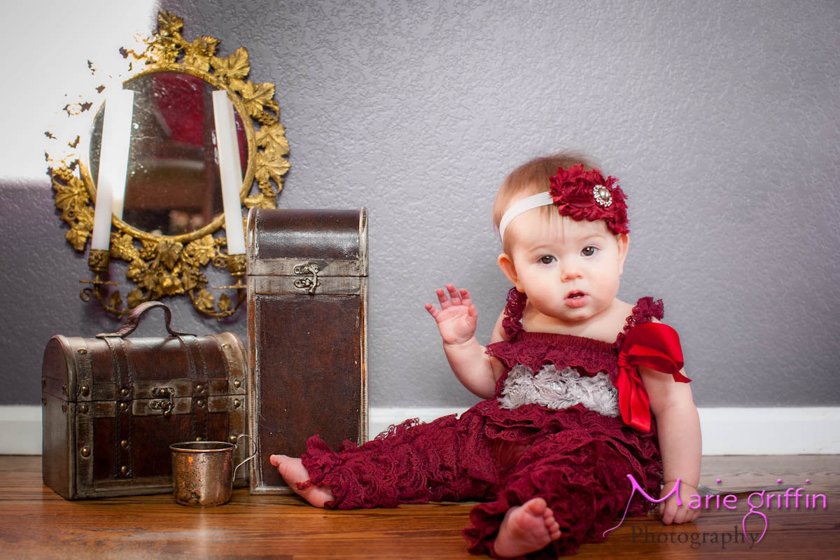 Burgundy Romper set - Happy BOWtique - children's clothing, Baby Girl clothing