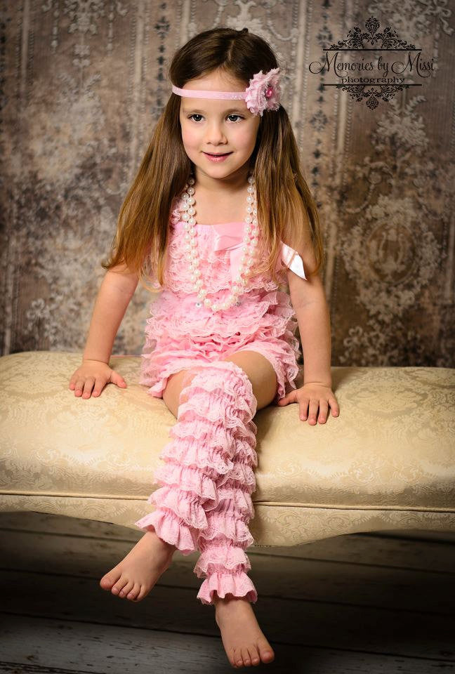 Lavender Petti Lace Leg Warmers - Happy BOWtique - children's clothing, Baby Girl clothing
