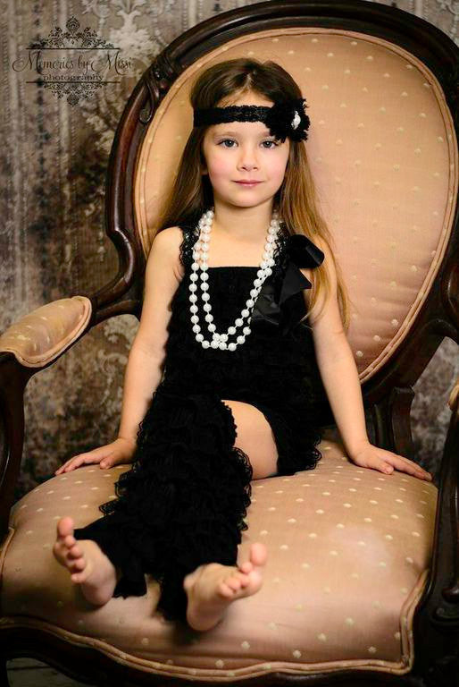 Duo Shabby Black lace headband - Happy BOWtique - children's clothing, Baby Girl clothing