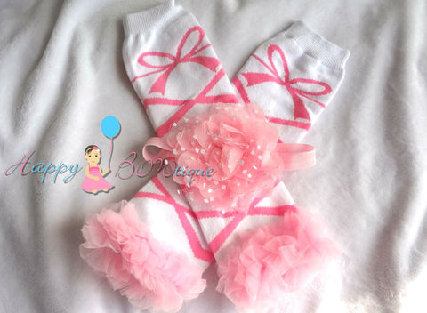 Baby Pink Ballerina Tutus leg warmers set - Happy BOWtique - children's clothing, Baby Girl clothing
