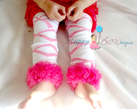 Hot Pink Ballerina Tutus leg warmers - Happy BOWtique - children's clothing, Baby Girl clothing