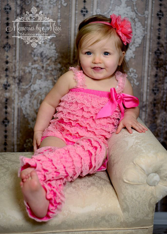 Bubblegum Pink Lace Petti Romper - Happy BOWtique - children's clothing, Baby Girl clothing