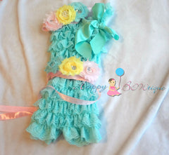 Cotton Candy Romper set - Happy BOWtique - children's clothing, Baby Girl clothing