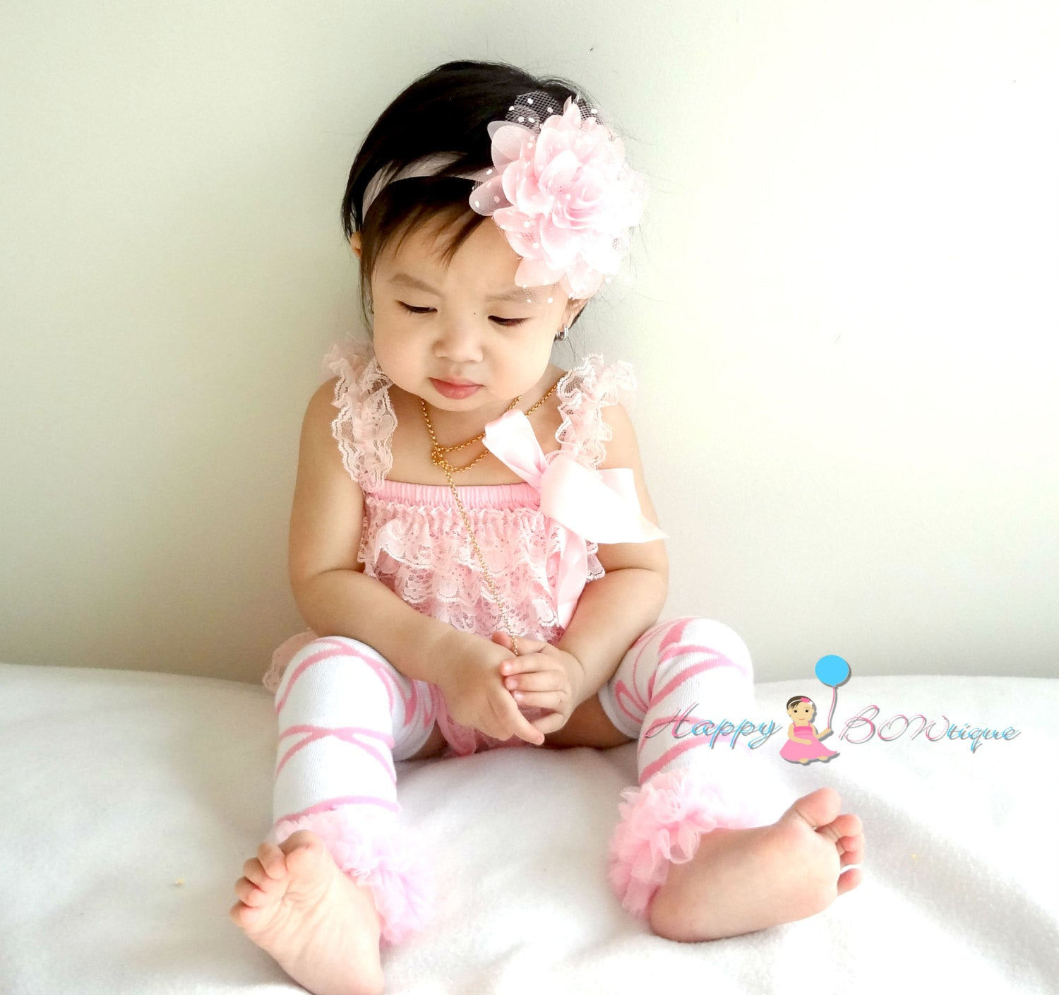 Ballerina Tutus baby Pink leg warmers - Happy BOWtique - children's clothing, Baby Girl clothing