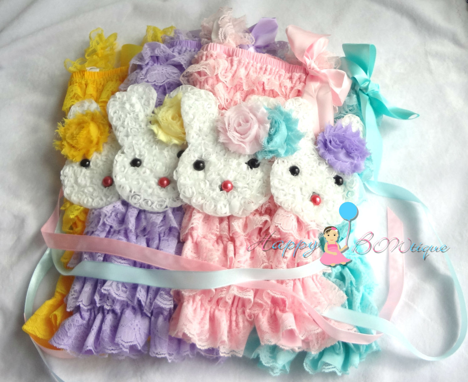 Easter Bunny Flower Sash/ Baby Girl's Easter Sash - Happy BOWtique - children's clothing, Baby Girl clothing