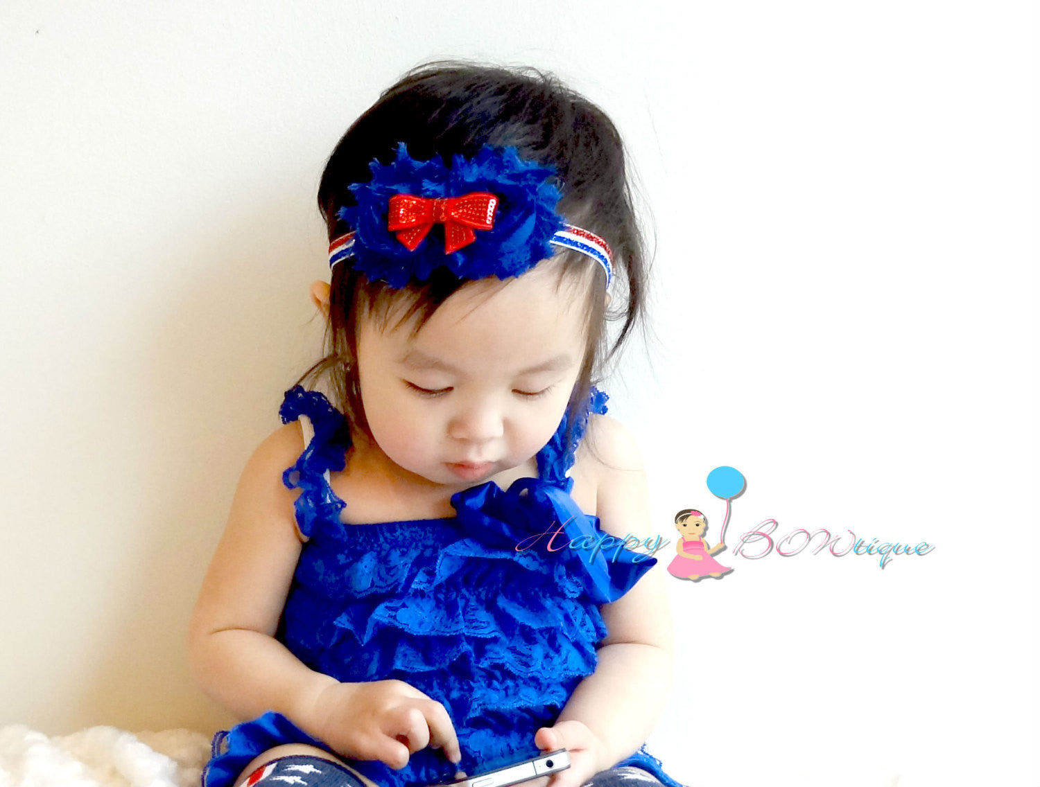 USA,  4th of July Sequin bow headbands, baby headband, July 4th headbands, Red white and Blue, Girls headbands/ Photo props, 4th of July - Happy BOWtique - children's clothing, Baby Girl clothing