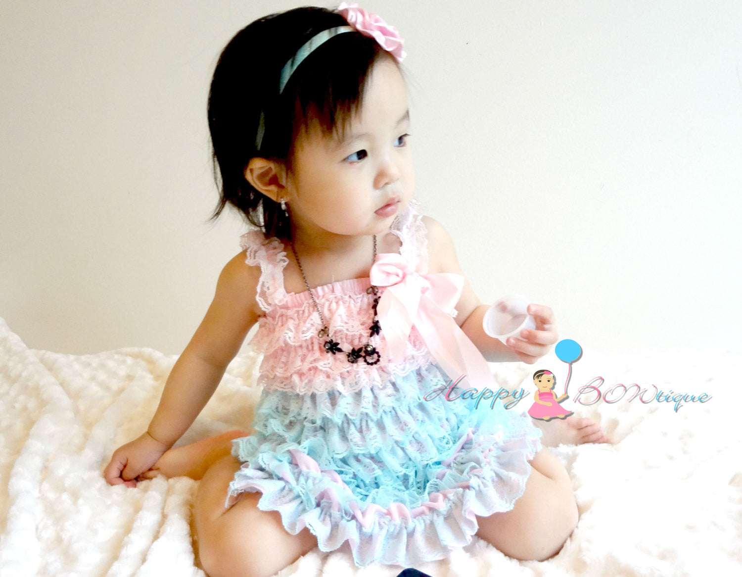 Girl Aqua Pink Petti Lace Dress ~ Baby Girl Aqua Pink Dress - Happy BOWtique - children's clothing, Baby Girl clothing