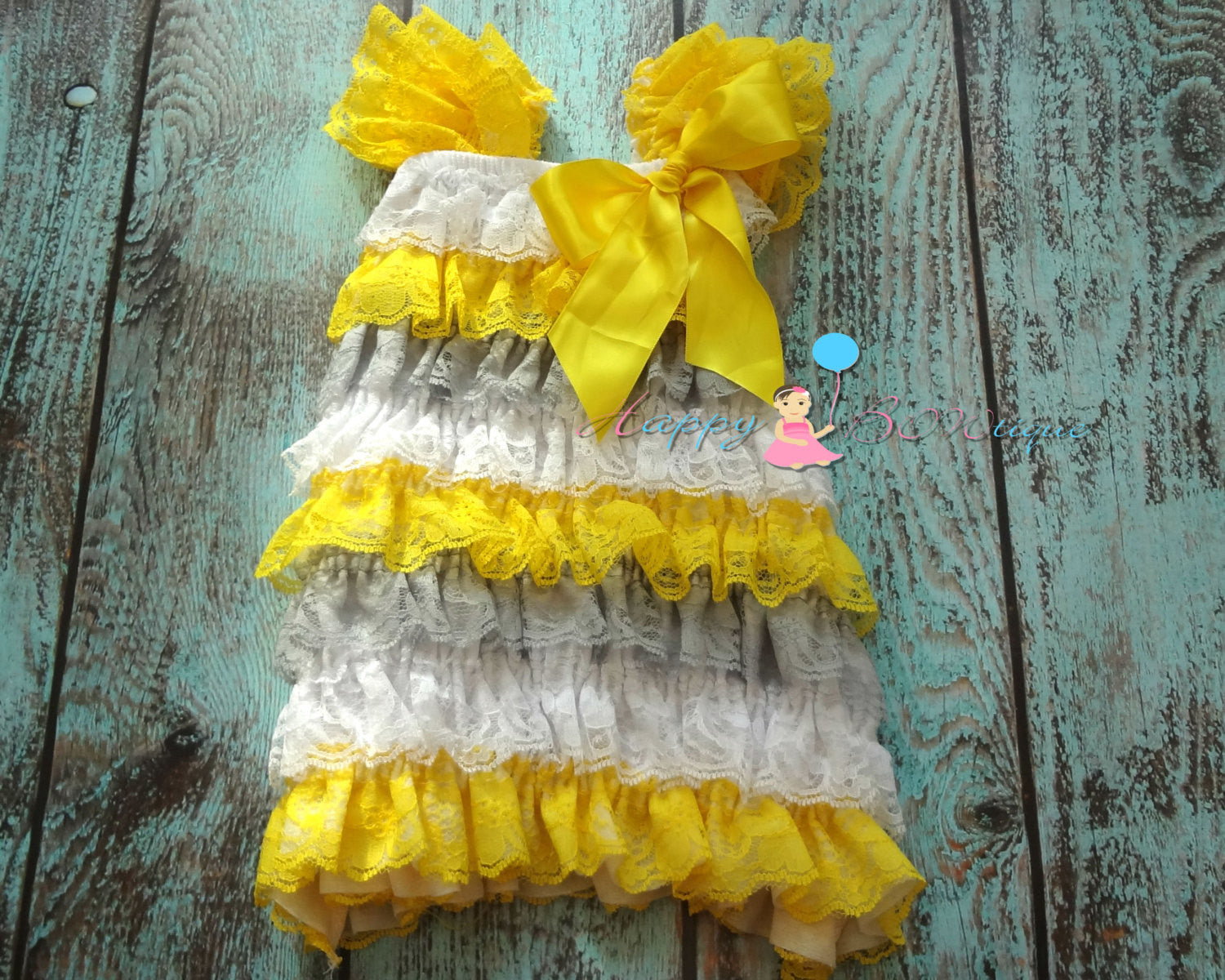 Springtime Petti Lace Dress - Happy BOWtique - children's clothing, Baby Girl clothing