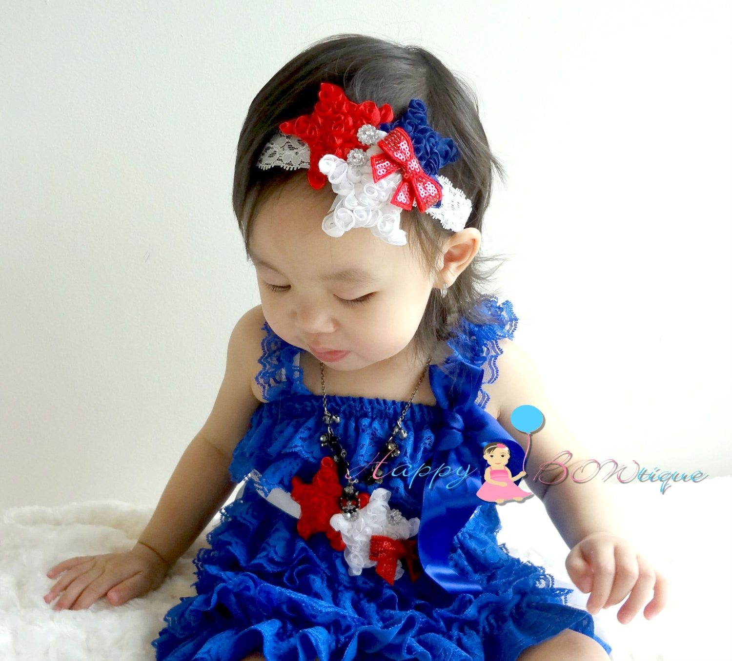 3pcs Shabby Stars dress set, 4th of July Dress, Petti Lace Dress, baby dress, girls dress, USA, Birthday outfit, baby dress - Happy BOWtique - children's clothing, Baby Girl clothing