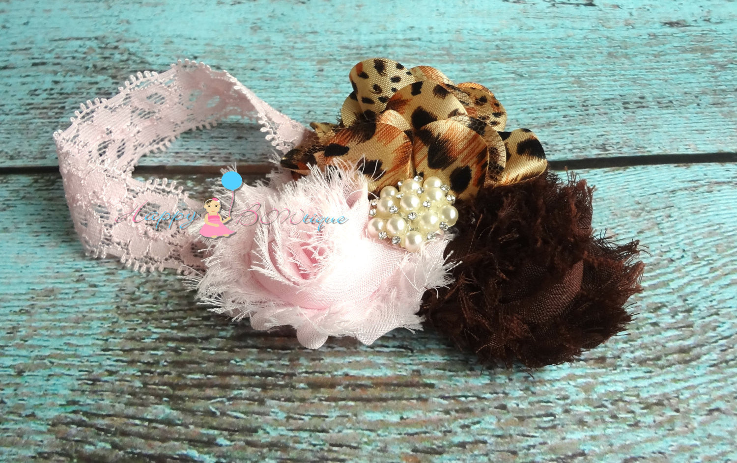 Trio Pink Leopard Headband - Happy BOWtique - children's clothing, Baby Girl clothing