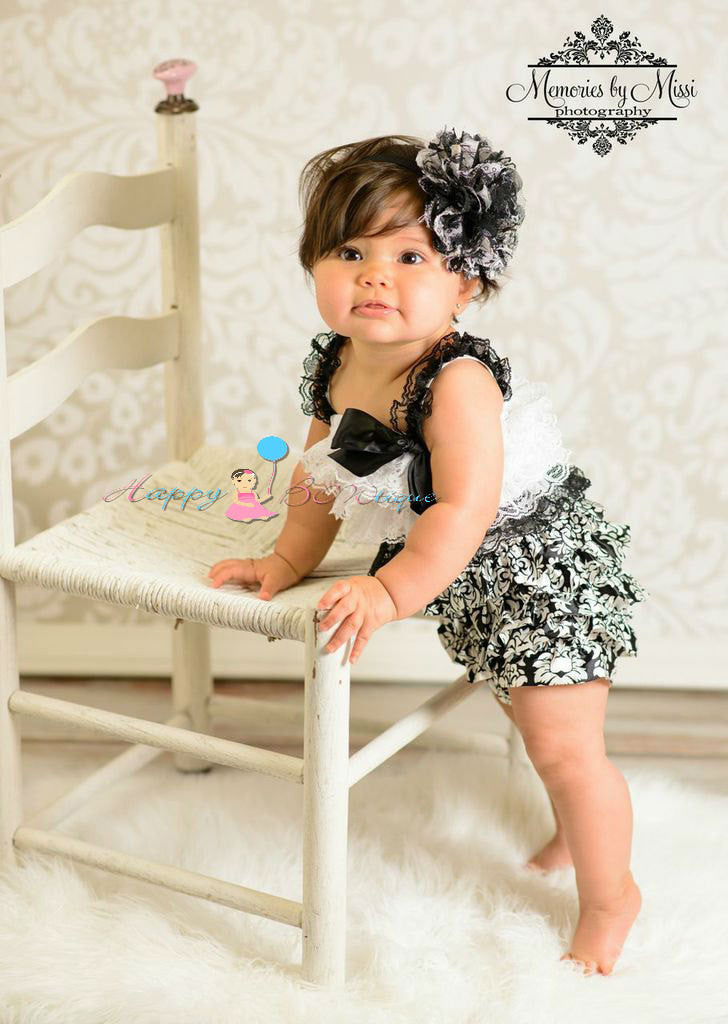 Large Floral Puff headband - Happy BOWtique - children's clothing, Baby Girl clothing