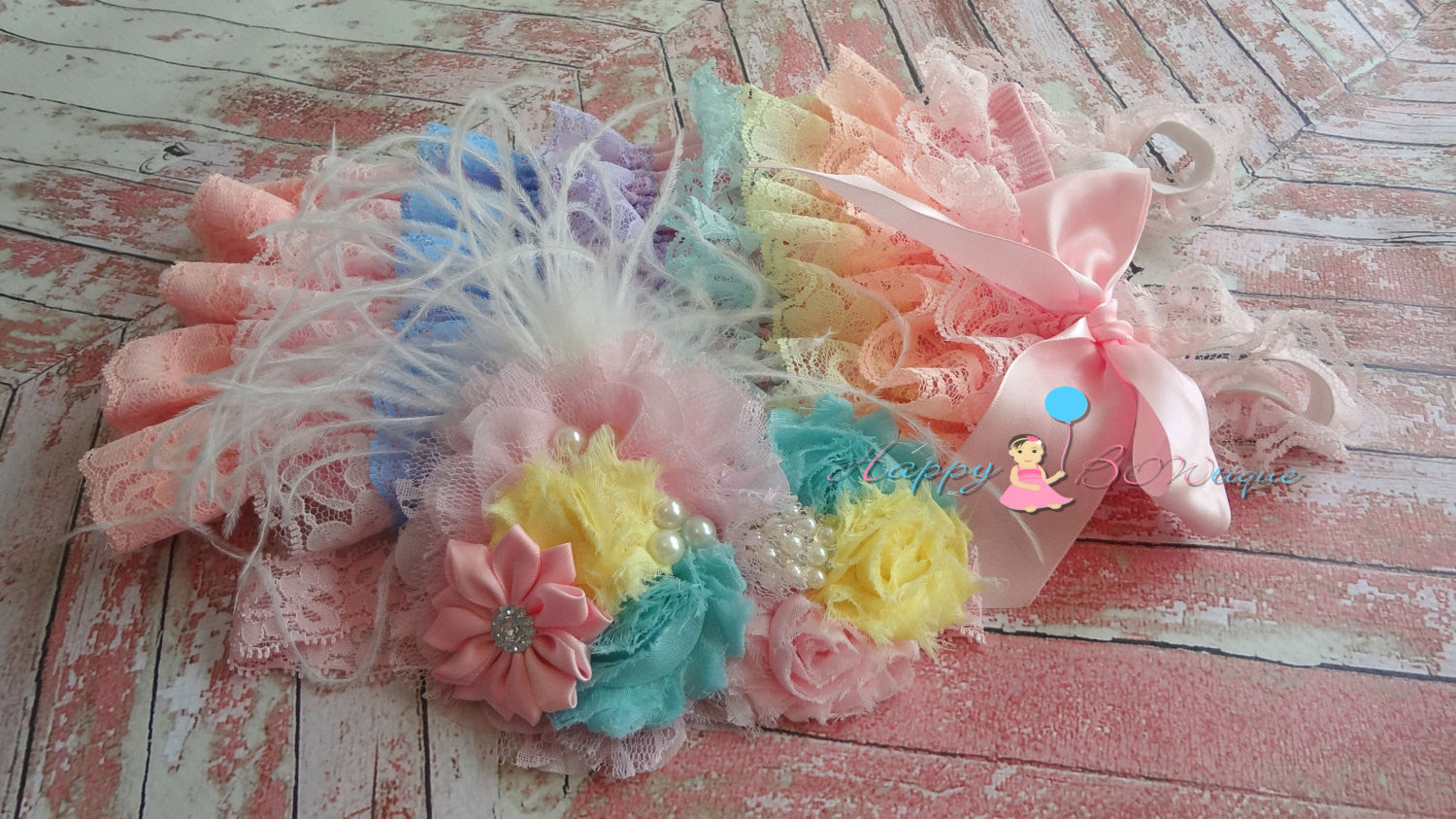 Over the Top Pastel Headband - Happy BOWtique - children's clothing, Baby Girl clothing