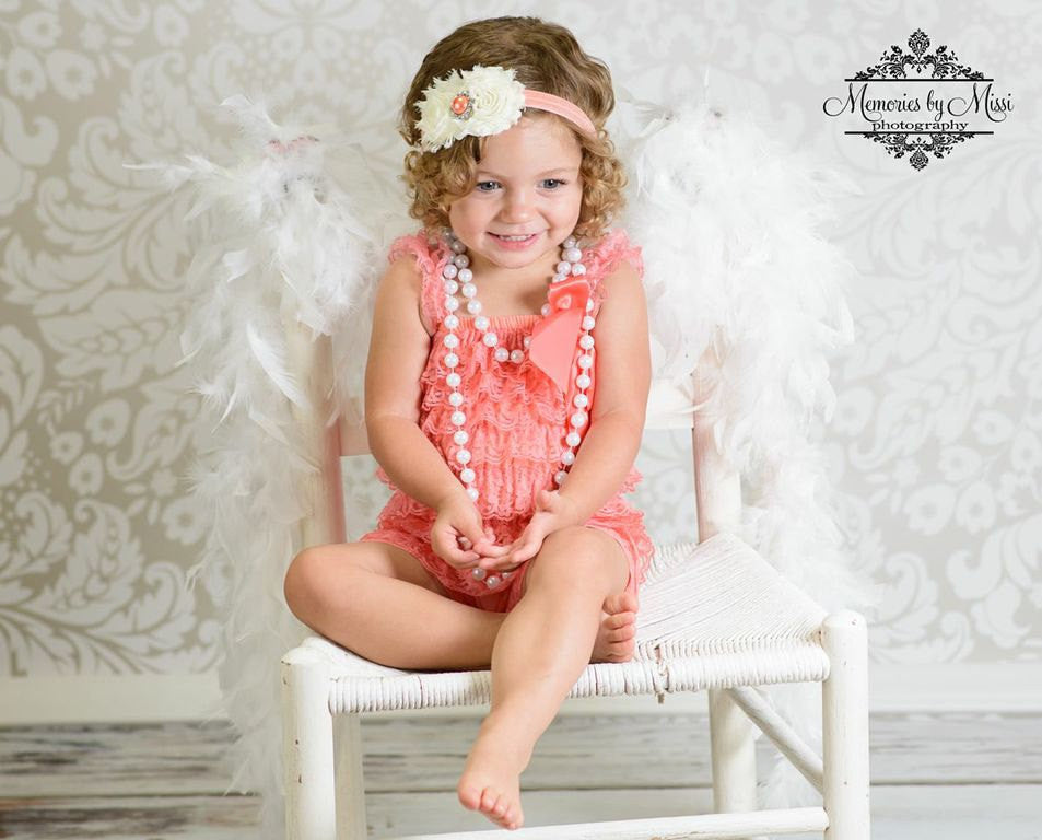 Coral Petti Lace Dress - Happy BOWtique - children's clothing, Baby Girl clothing