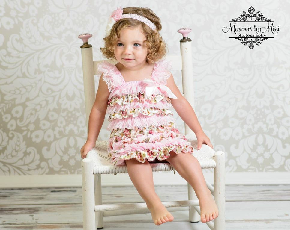 Clearance Vintage Pink Rose Lace Dress - Happy BOWtique - children's clothing, Baby Girl clothing