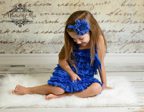 Royal Blue Satin Cabbage Headband