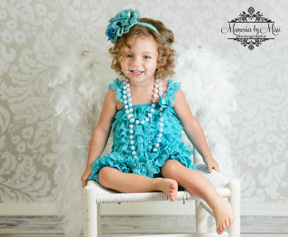 Girl China Jade lace Dress ~ Baby Girl Petti Lace Teal Dress - Happy BOWtique - children's clothing, Baby Girl clothing