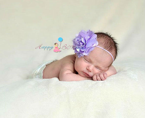 Large Satin Lavender Tutu Headband - Happy BOWtique - children's clothing, Baby Girl clothing