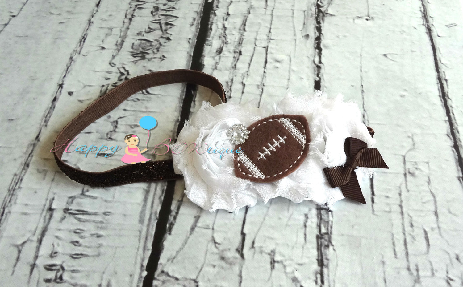 Football Glitter headband - Happy BOWtique - children's clothing, Baby Girl clothing
