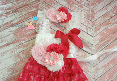 Valentines Love dress set Girl's hot pink Dress - Happy BOWtique - children's clothing, Baby Girl clothing