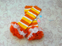 SALE- Candy Corn Lace Dress, ruffle dress, baby dress, girls dress, Birthday outfit, girls outfit, halloween dress, fall dress, yellow dress - Happy BOWtique - children's clothing, Baby Girl clothing