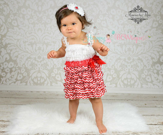 Red Chevron Dress - Happy BOWtique - children's clothing, Baby Girl clothing