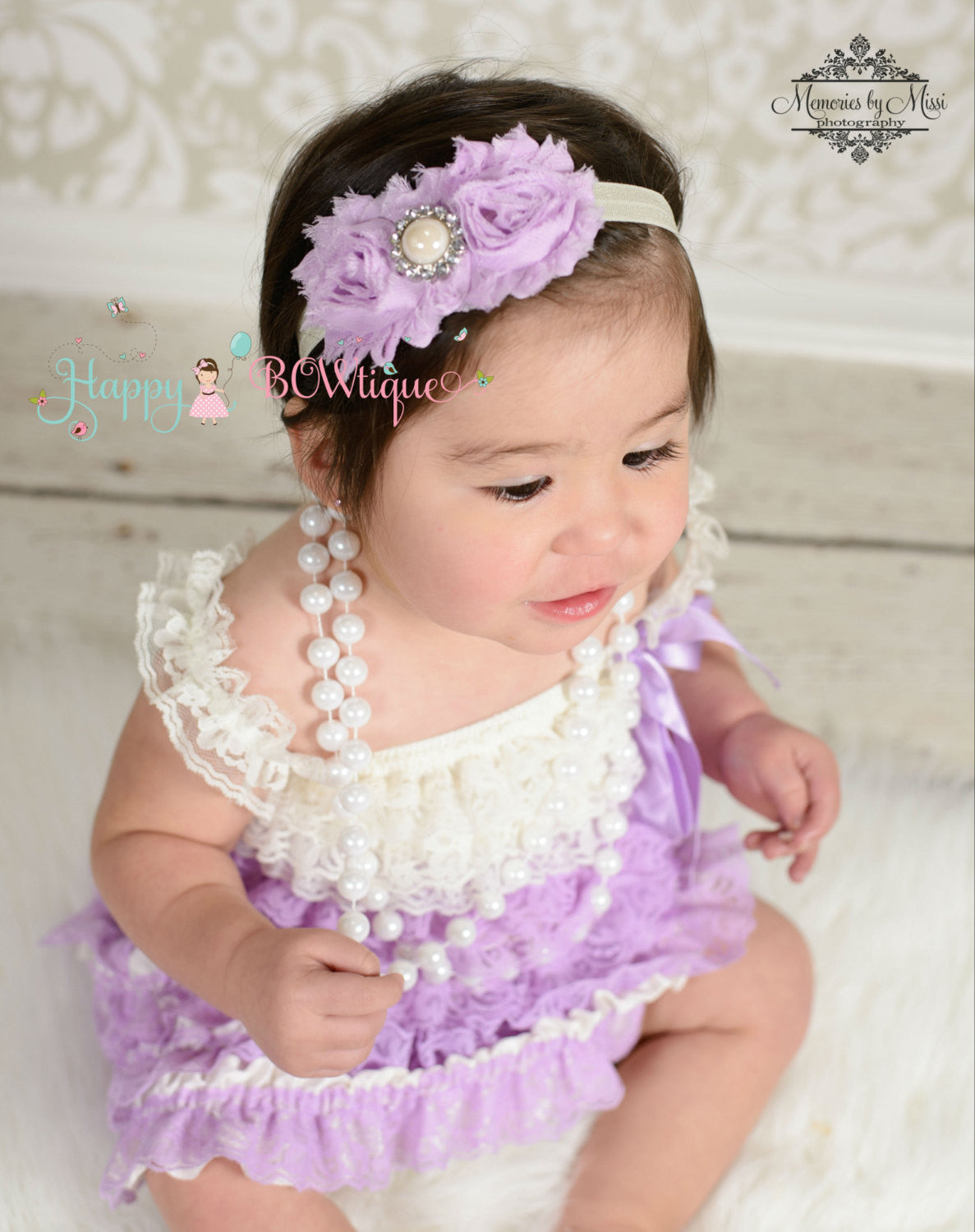 Girl Ivory Lilac Lace Dress ~ Girl Lavender Petti Lace Dress - Happy BOWtique - children's clothing, Baby Girl clothing