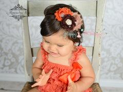 Fall Orange Petti lace dress - Happy BOWtique - children's clothing, Baby Girl clothing