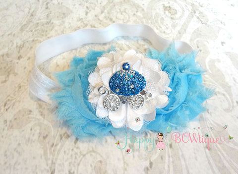 4th of July Stars Sequin Shabby Headband / 4th of July Headband