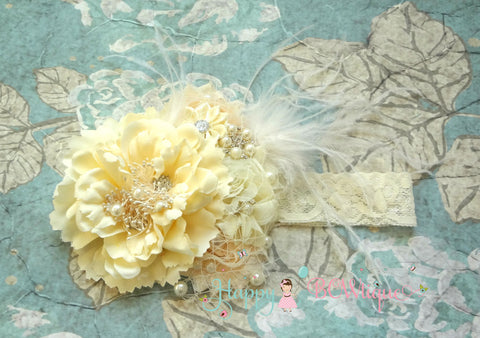 Embellished Birdcage headband - Happy BOWtique - children's clothing, Baby Girl clothing