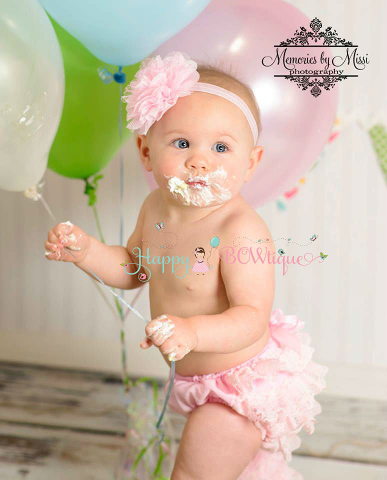 Newborn Baby Pink Bloomer Set~ Baby Cake Smash Pink Bloomer - Happy BOWtique - children's clothing, Baby Girl clothing