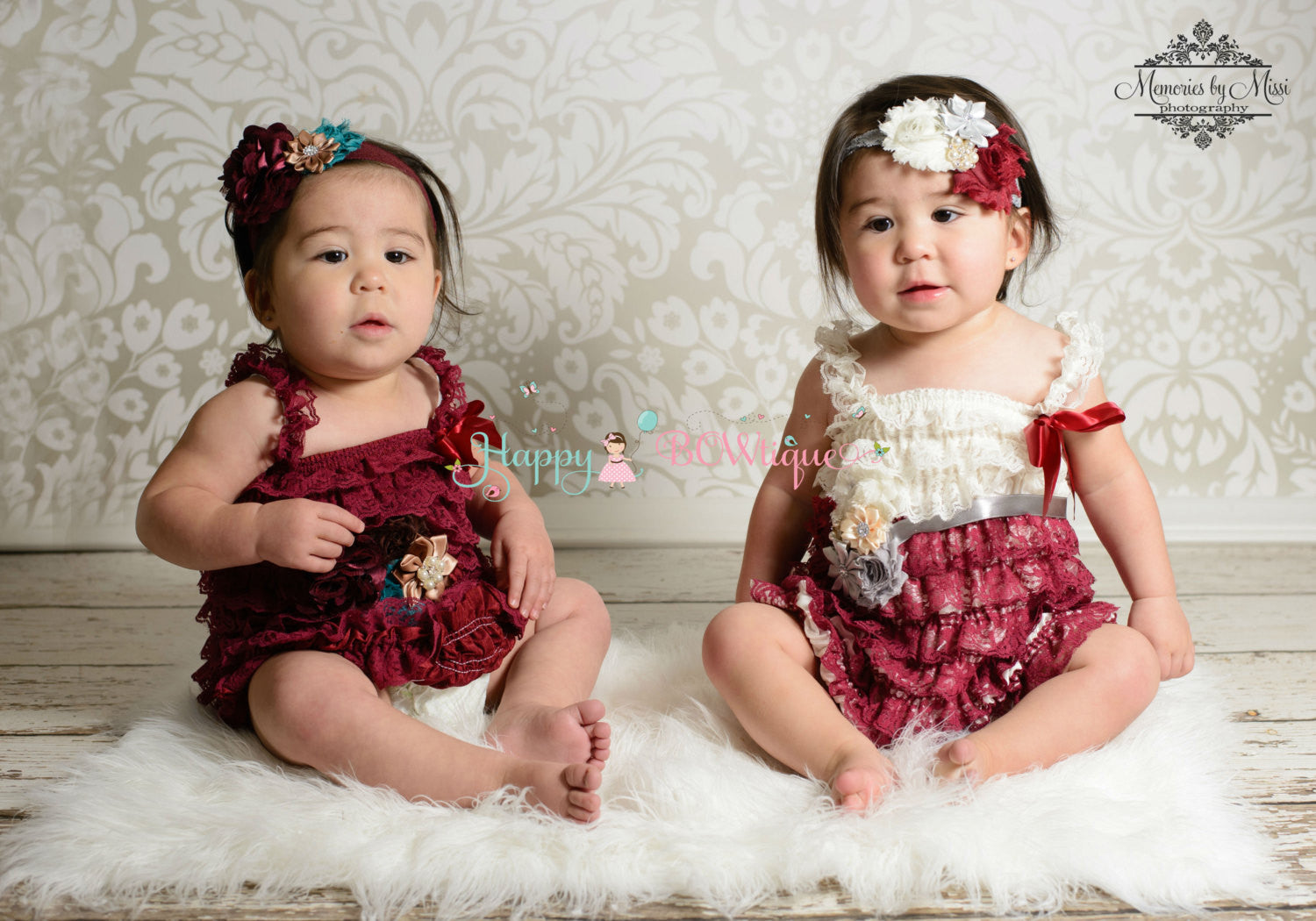 Girl's Burgundy Lace Dress/ Burgundy Ivory Grey Girl's Lace Dress set - Happy BOWtique - children's clothing, Baby Girl clothing