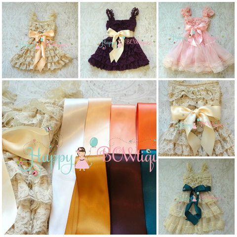 Dress Sash/ Ribbon Sash - Happy BOWtique - children's clothing, Baby Girl clothing