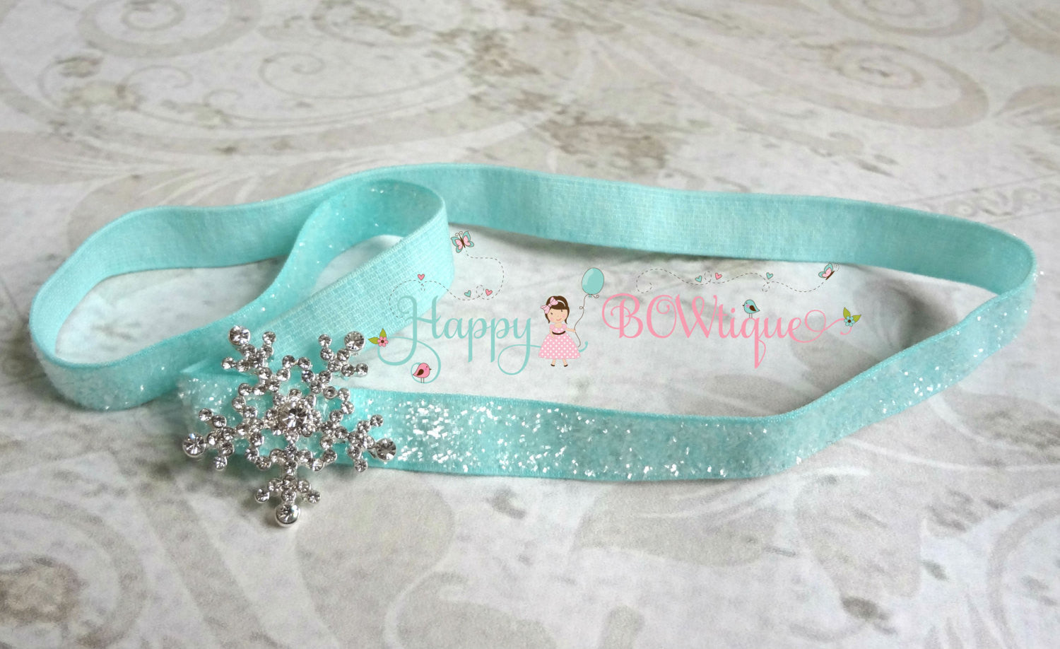 Snowflake Glitter headband - Happy BOWtique - children's clothing, Baby Girl clothing