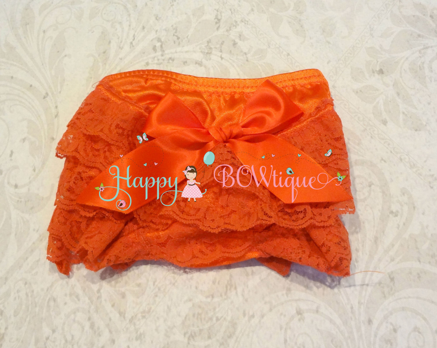 Fall Orange Baby Bloomer - Happy BOWtique - children's clothing, Baby Girl clothing