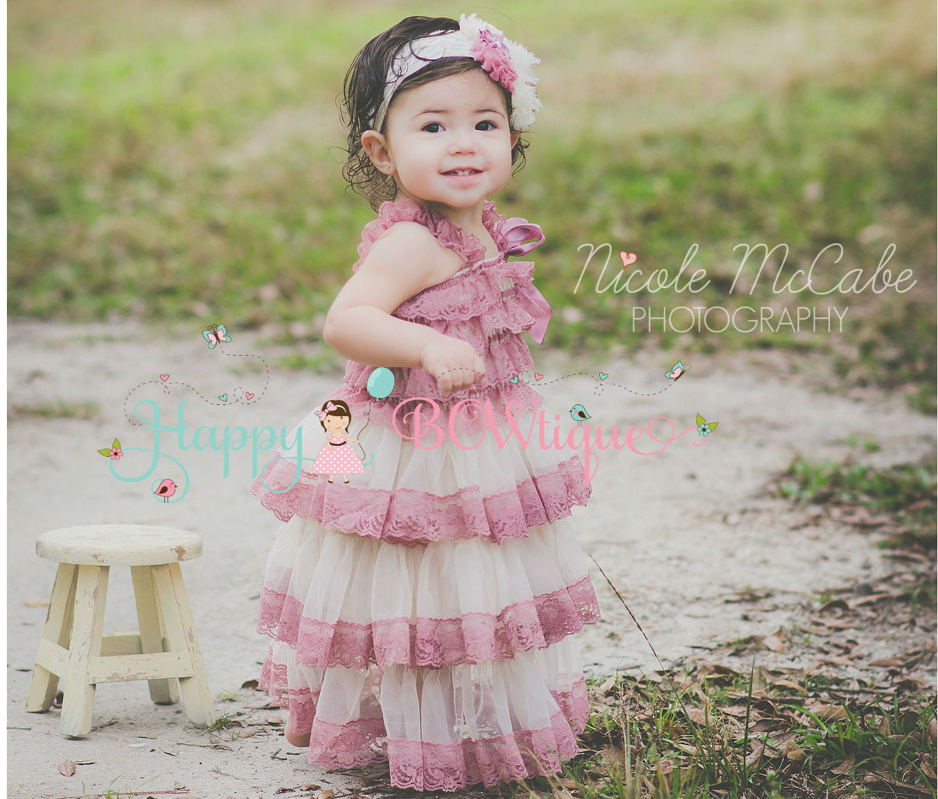 Baby Girl Dresses ~ Our beautiful chiffon and lace dresses are perfect for Flower Girl